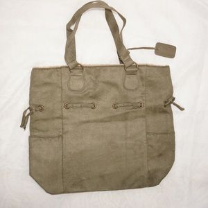 Neiman Marcus Olive Green Tote, NWOT